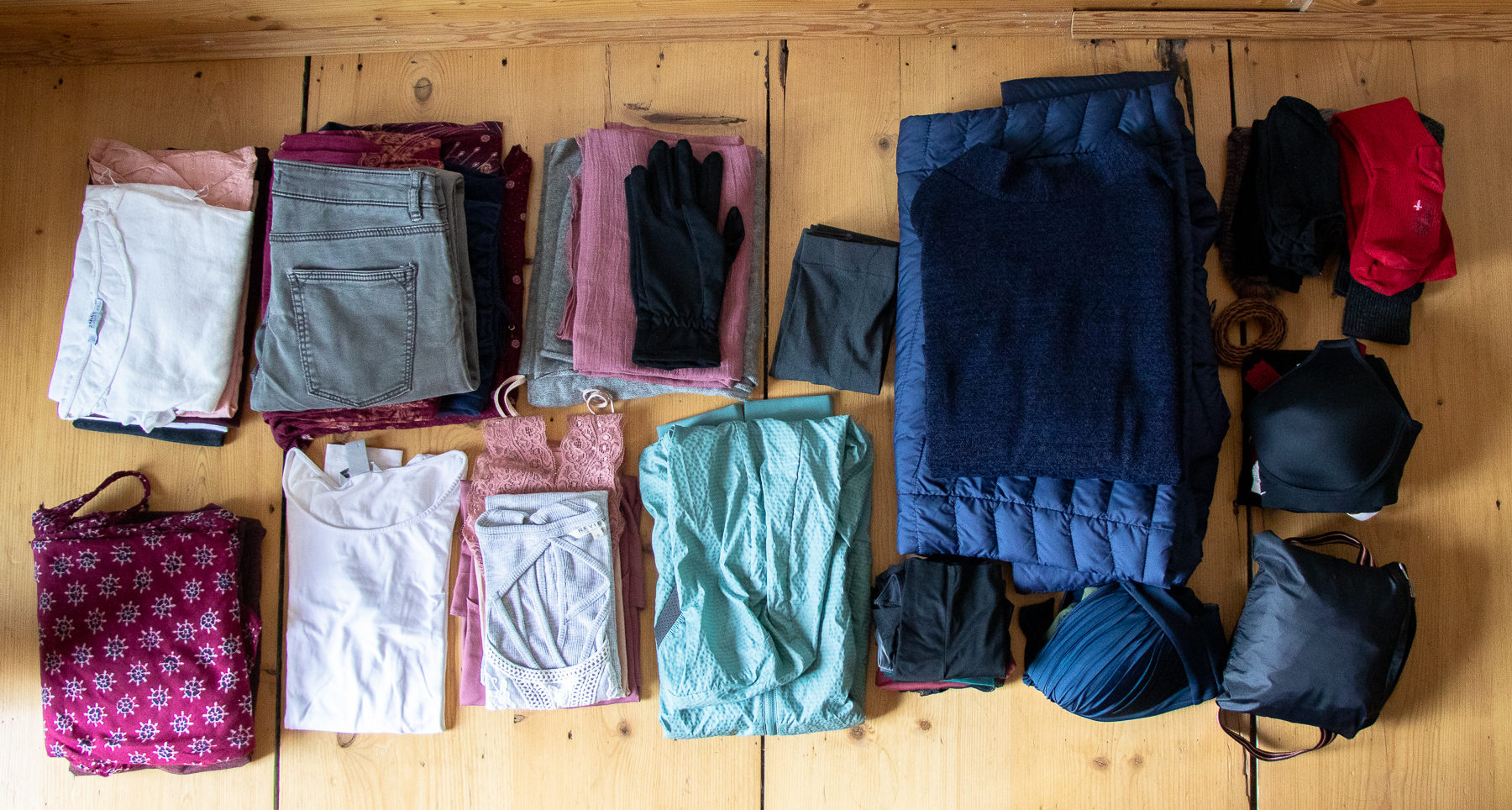 Clothes for one year and for all seasons.