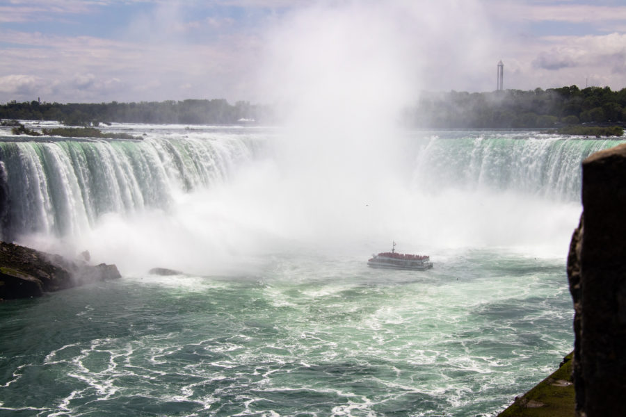 The Niagara Falls are the world's most famous waterfalls.