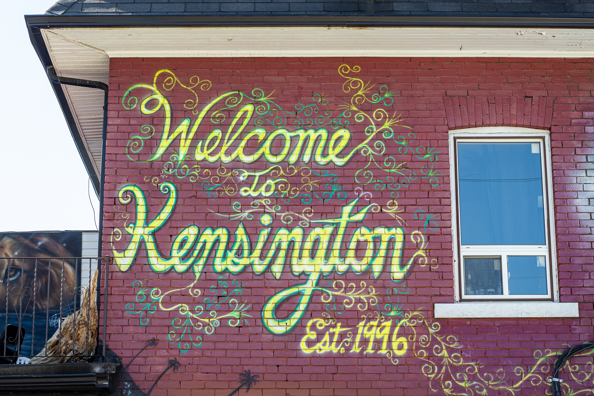 Kensington is a colorful neighborhood - not just on this wall.