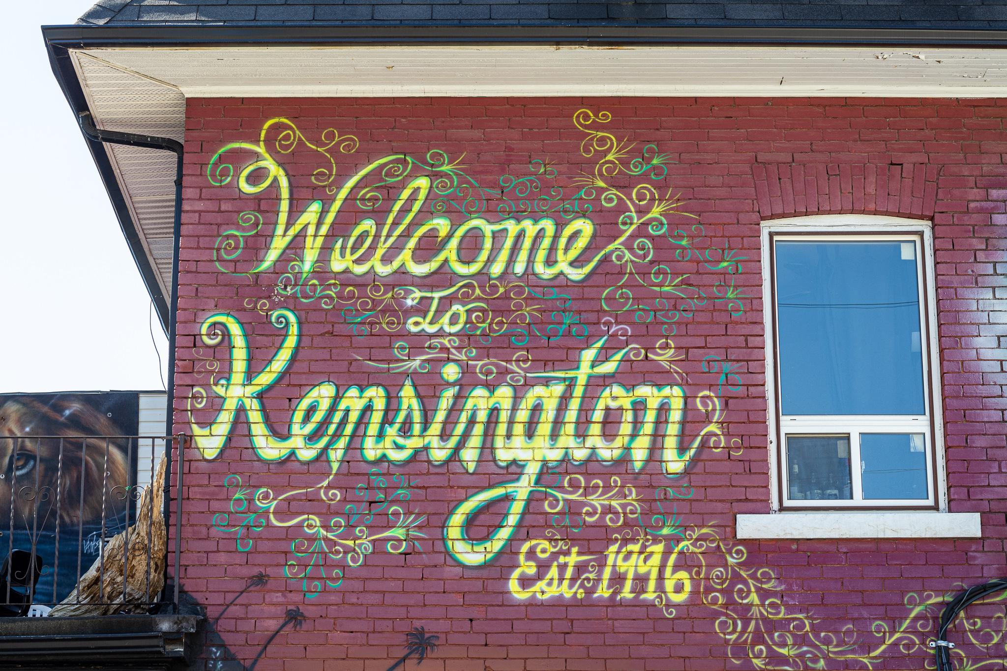 Kensington ist ein buntes Viertel - nicht nur an dieser Wand.