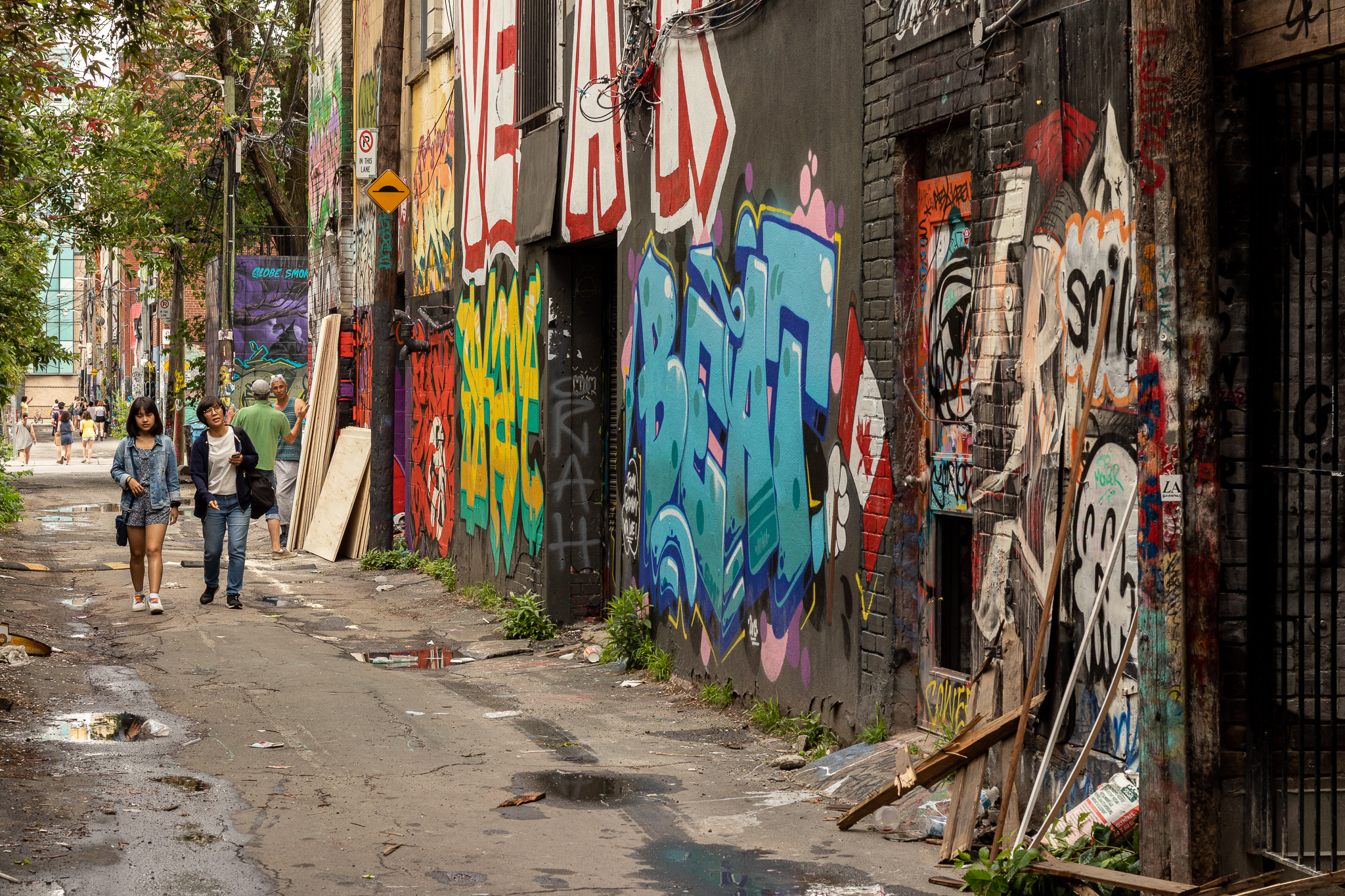 The Graffiti Alley - here the street art is legal and attracts many tourists.