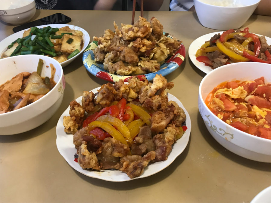 All self cooked: Chinese food in Toronto.
