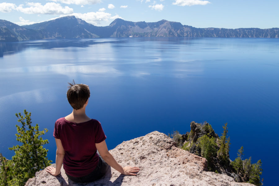 Crater Lake in Oregon, USA - the bluest of the blue lakes.