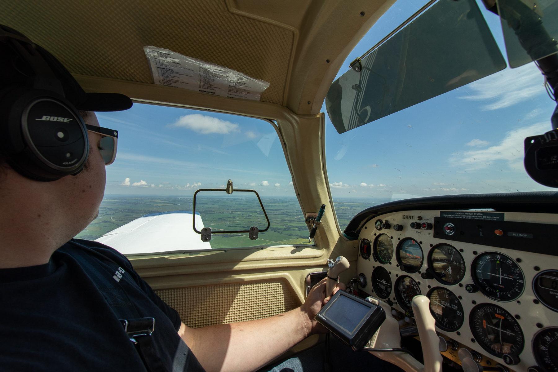 Ein Blick ins Cockpit.