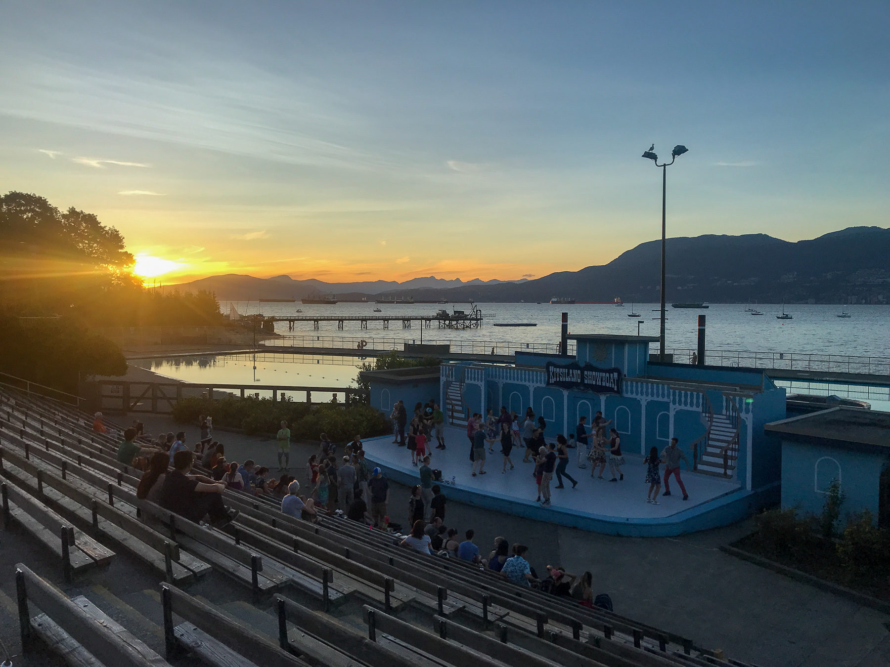 Lindy Hop in the sunset at Kitsilano Beach.