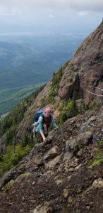 Der Beweis: Es war echt steil auf dem Weg zum Gipfel von Mount Arrowsmith.