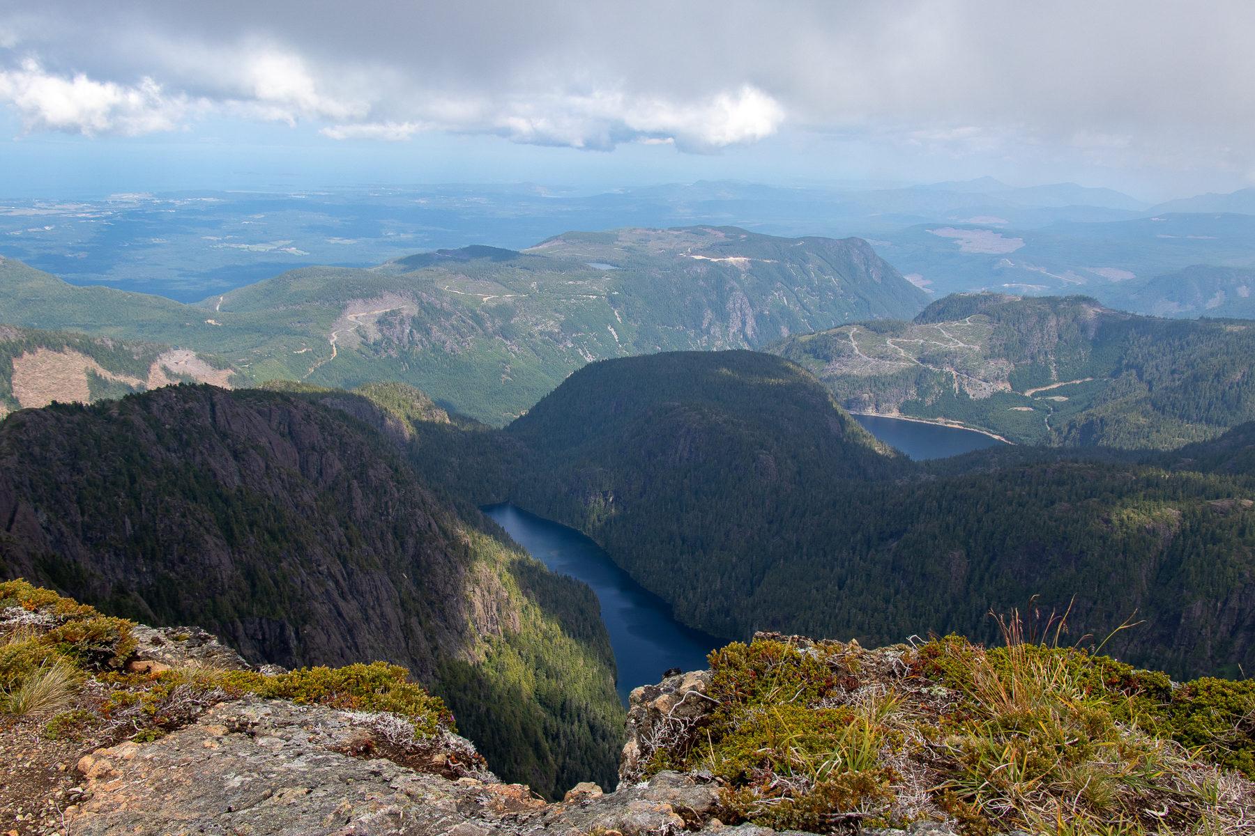 Was ein Ausblick vom Gipfel von Mount Arrowsmith.