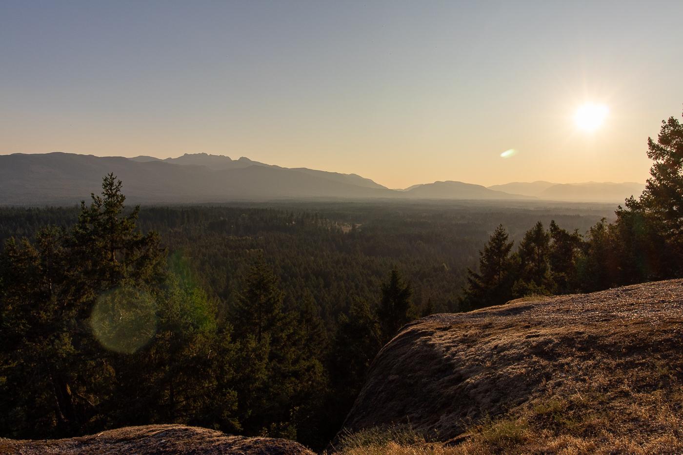 Von Little Mountain aus kann man einen schönen Sonnenuntergang beobachten.