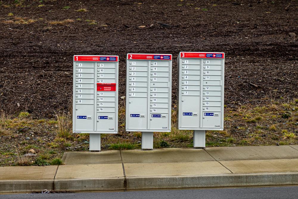 Community Mailboxen lösten Briefkästen ab.