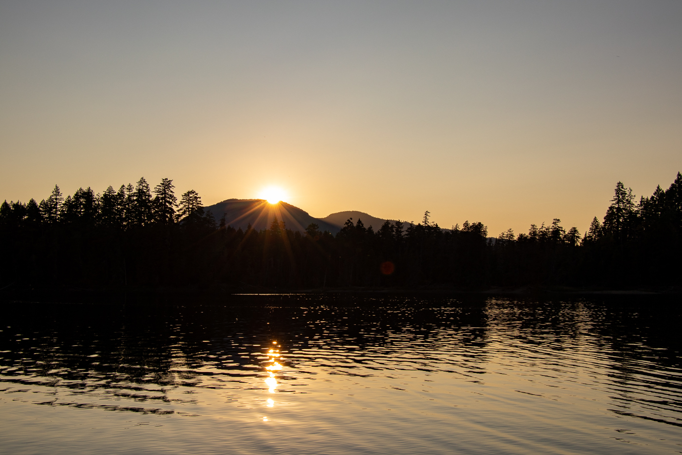Sonnenuntergang über Spider Lake.