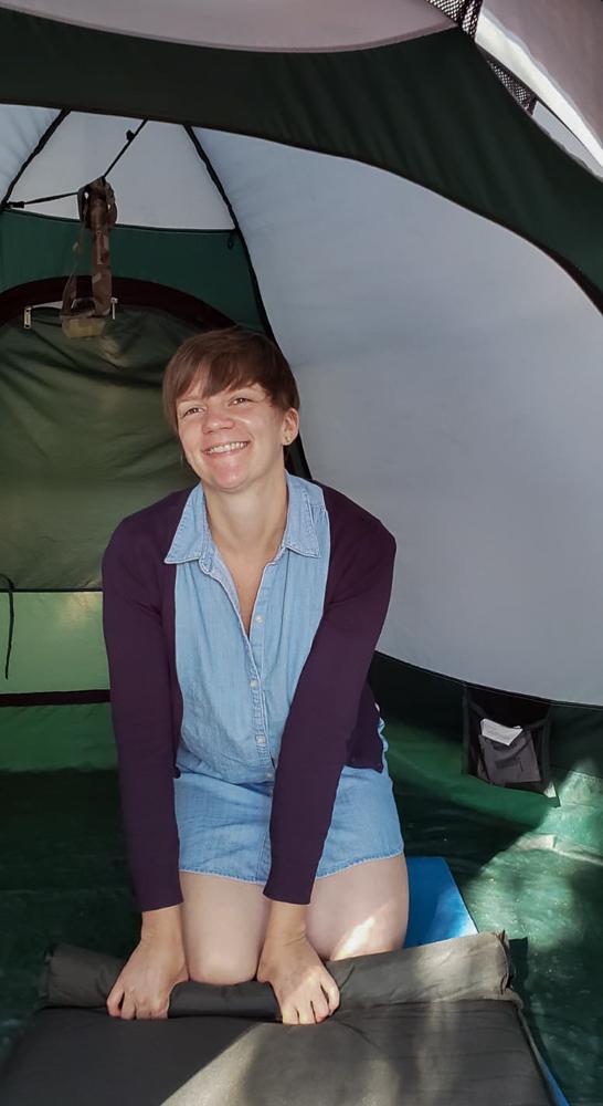 Die eine oder andere Nacht habe ich im Zelt verbracht.