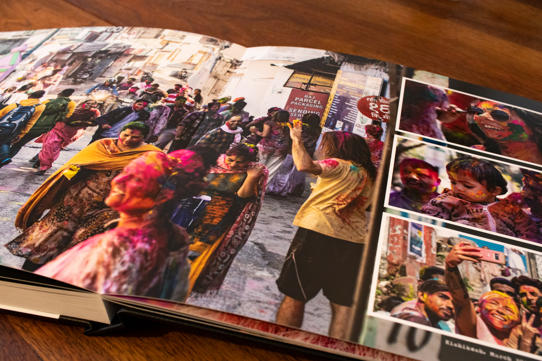 The colors on the photo paper really pop - especiallly in the photos from the colorful Holi Festival in India.