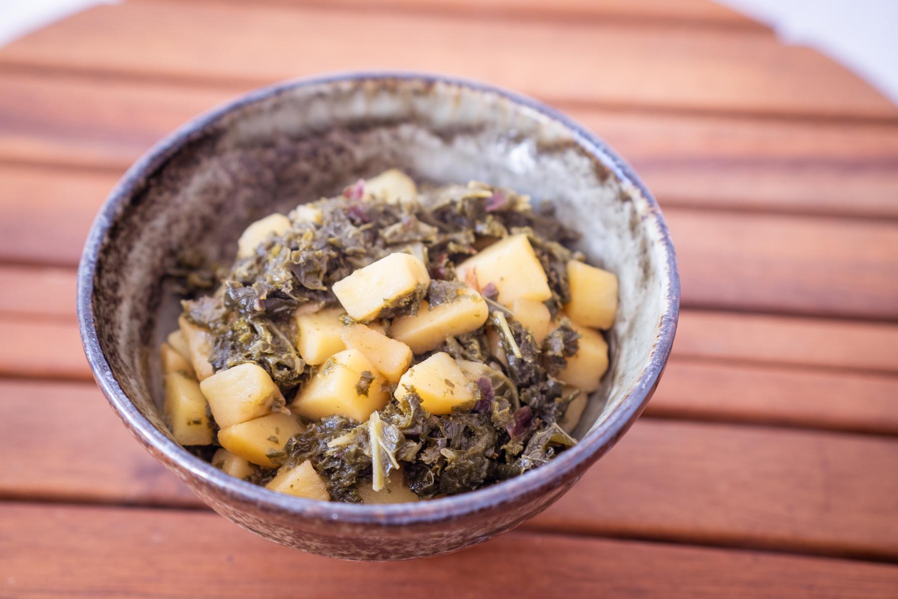 Grünkohl mit Kartoffeln - gesundes Kochen muss nicht aufwändig sein.