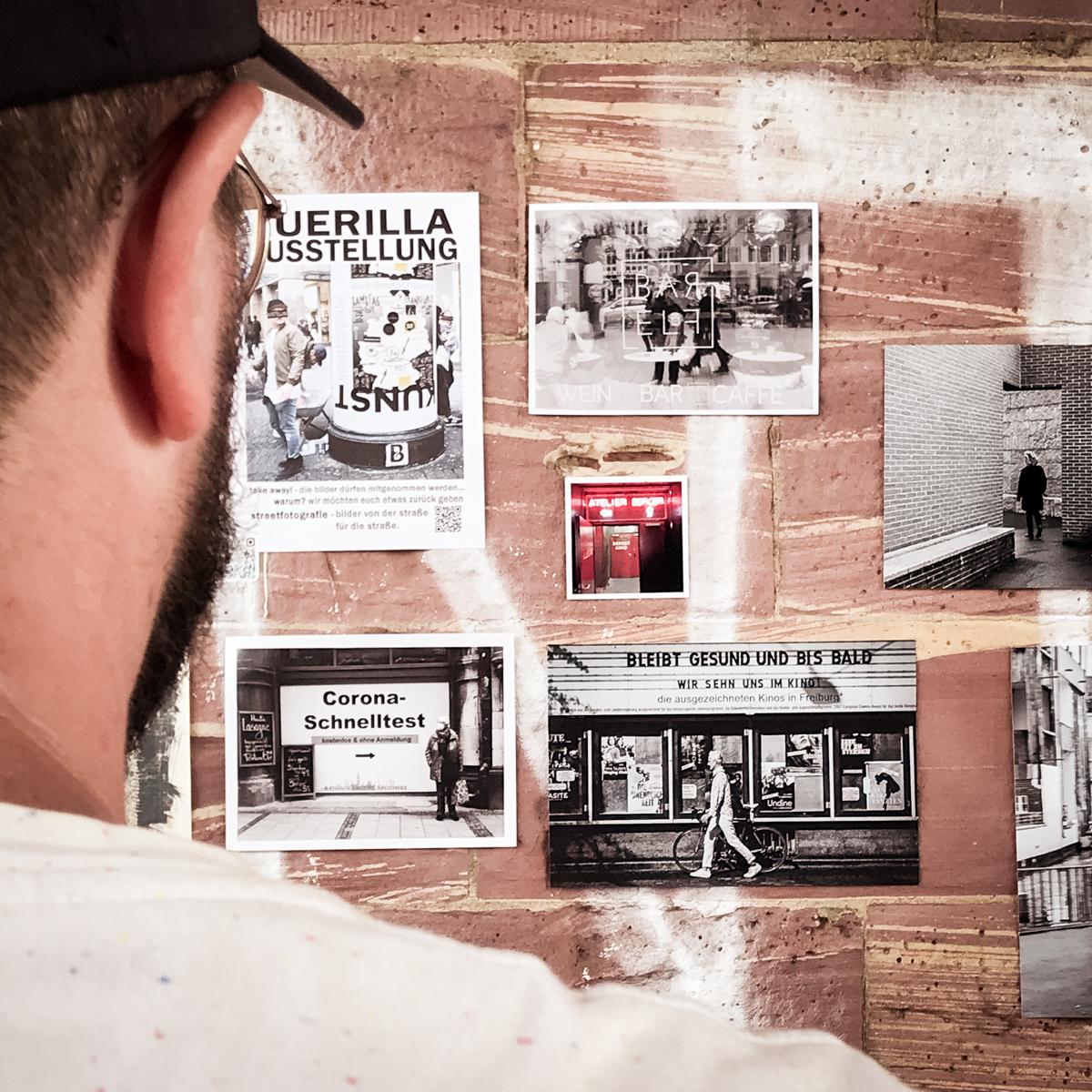 Fotos von der Straße für die Straße. Unter diesem Motto gab's am Ende eines langen Foto-Tages eine Guerilla-Ausstellung an der Untermainbrücke.